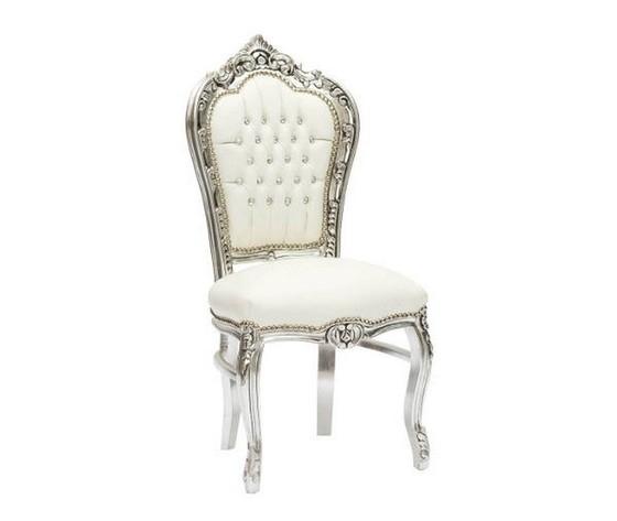 Sedia barocco argento bianco