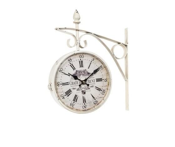 Orologio modello stazione bianco Shabby Chic