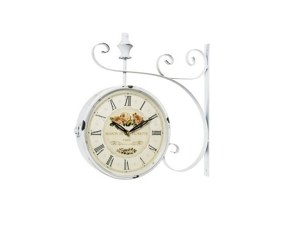 Orologio modello stazione bianco caf