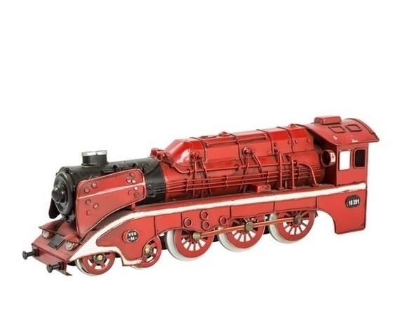 Modellino di treno rosso