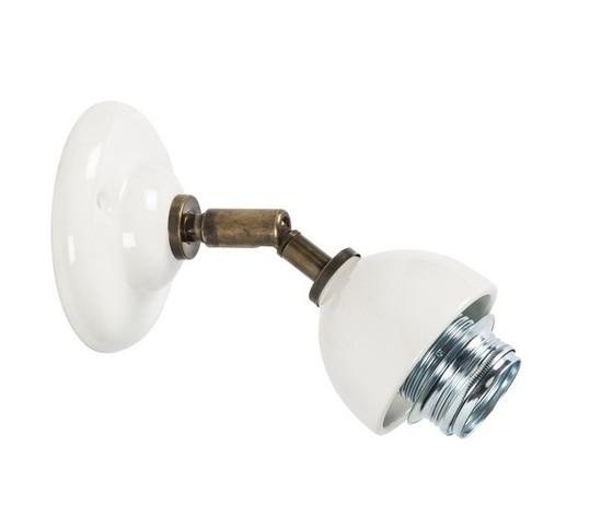 Applique in ottone bianco 1 luce