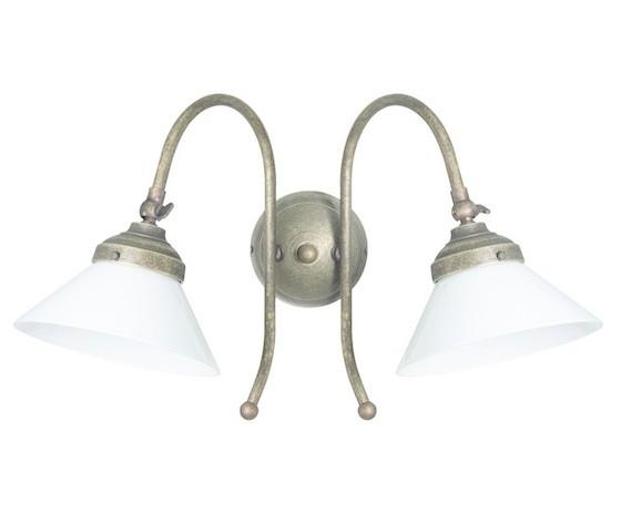 Applique in ottone 2 luci