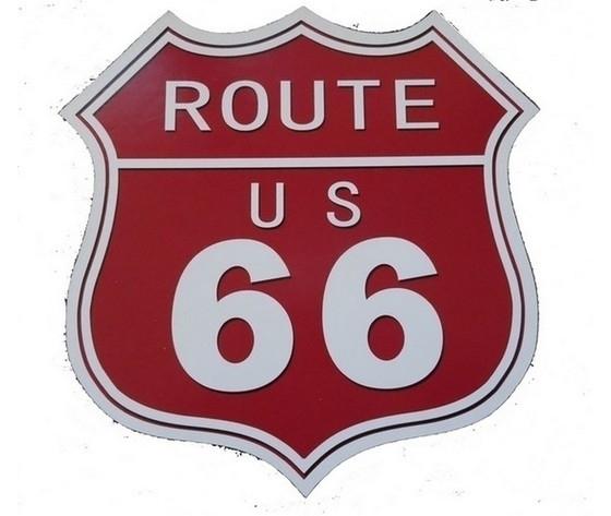 Targa in metallo route us 66