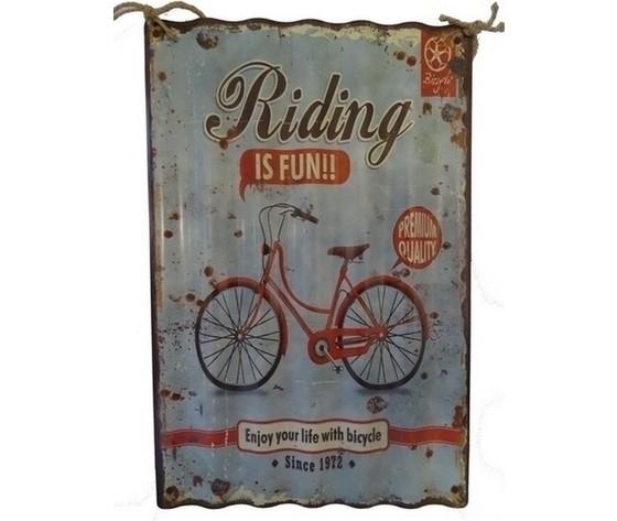 Pannello decorativo in metallo bicicletta