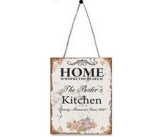 Targa Pannello decorativo in metallo home kitchen
