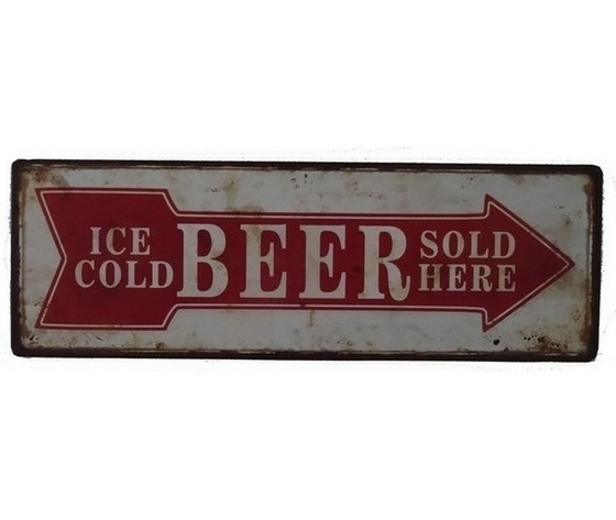 Targa in metallo beer