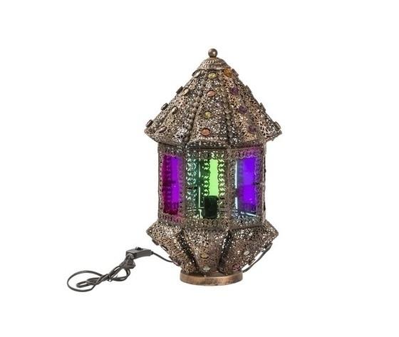 Lampada da tavolo lanterna stile etnico