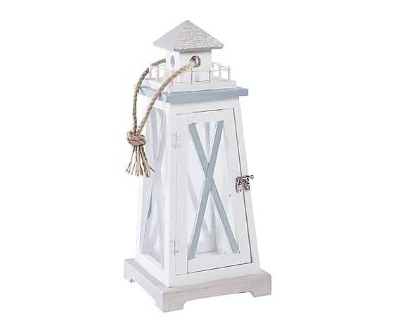 Lanterna stile marinaro bianco azzurro