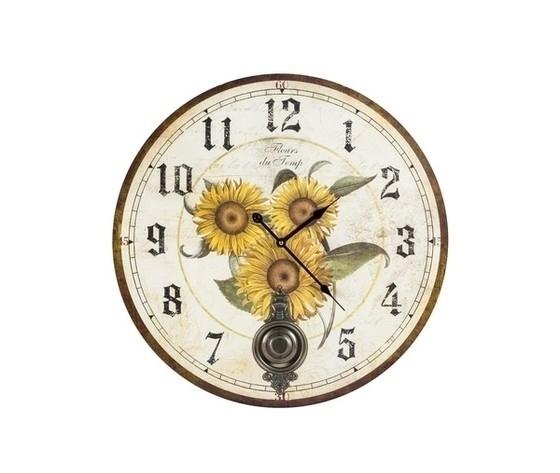 Orologio da parete a pendolo girasoli