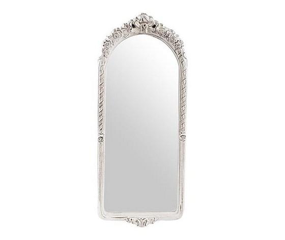 Specchio da parete cornice in legno bianco 28x4x68cm