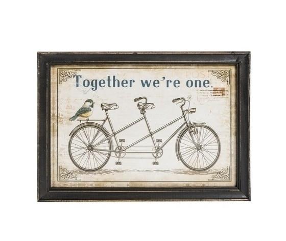 Quadro decorativo bicicletta tandem