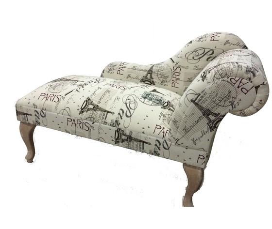Dormeuse struttura in legno tessuto stampato Shabby Chic