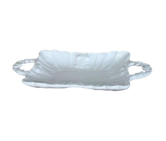 Vassoio rettangolare bianco