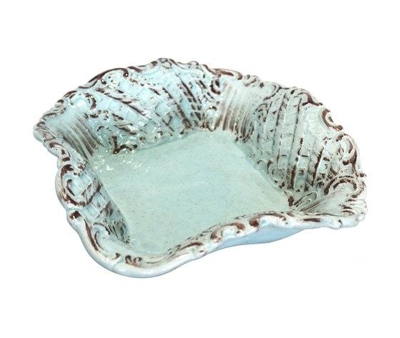 Coppa quadra ceramica turchese