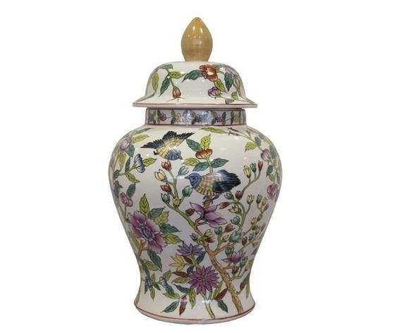Potiches in ceramica decorato