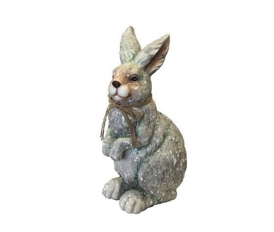 Statuina coniglio in maiolica