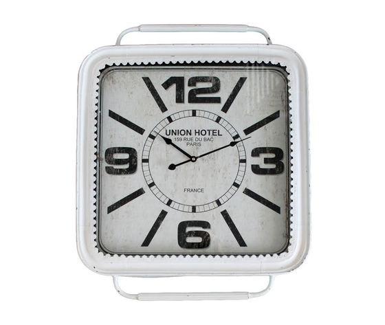 Orologio da parete quadrato bianco
