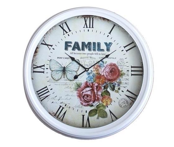 Orologio da parete bianco Family