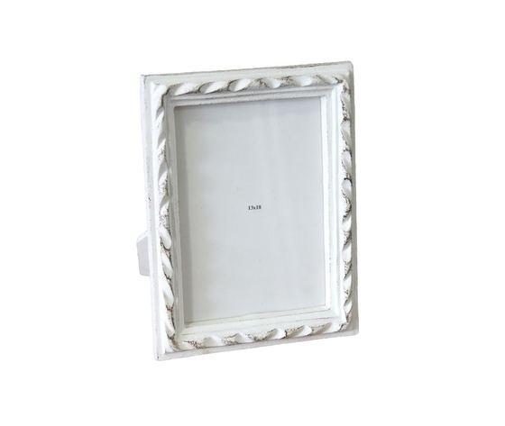 Portafoto rettangolare legno bianco
