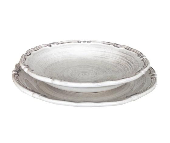 Piatto Ceramica Bianco.Coppia Piatti Ceramica Bianco