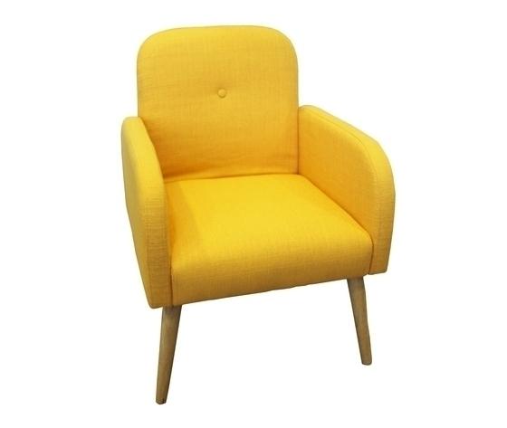Poltrona colore giallo stile moderno new retr˜