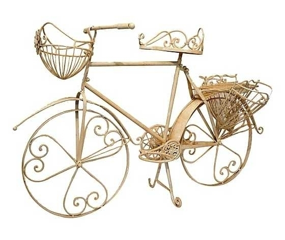 Bicicletta decorativa portafiori ferro