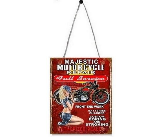 Pannello decorativo in metallo Motorcycle