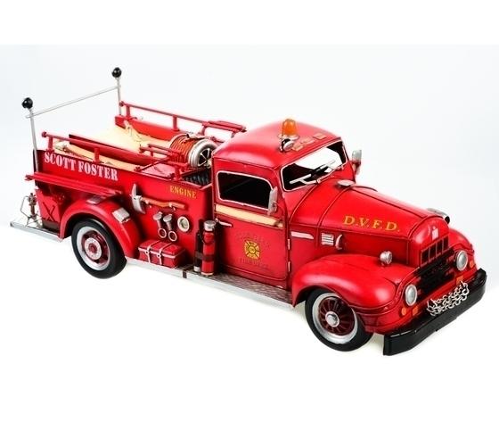 Modellino in latta camion dei pompieri