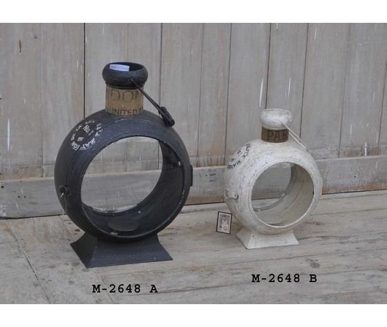 Lanterna stile Industrial metallo bianco