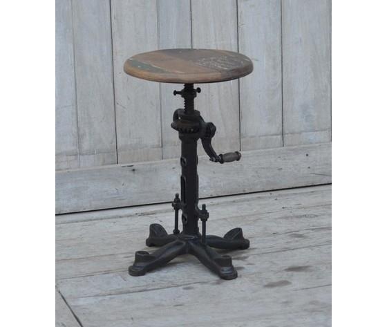 Sgabello in ferro e legno stile industrial