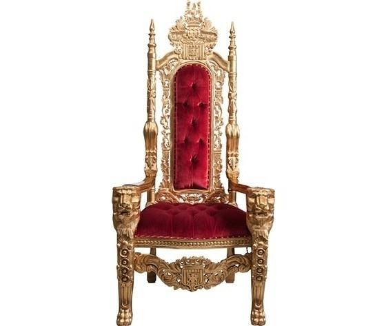 Poltrona barocco Trono oro rosso
