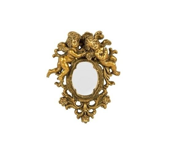 Specchio cornice oro con angeli, fiori e foglie Stile Barocco