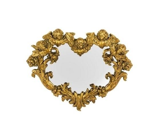 Specchio cornice oro cuore con angeli Stile Barocco