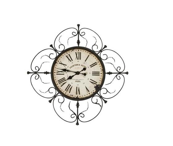 Orologio da parete in ferro lavorato