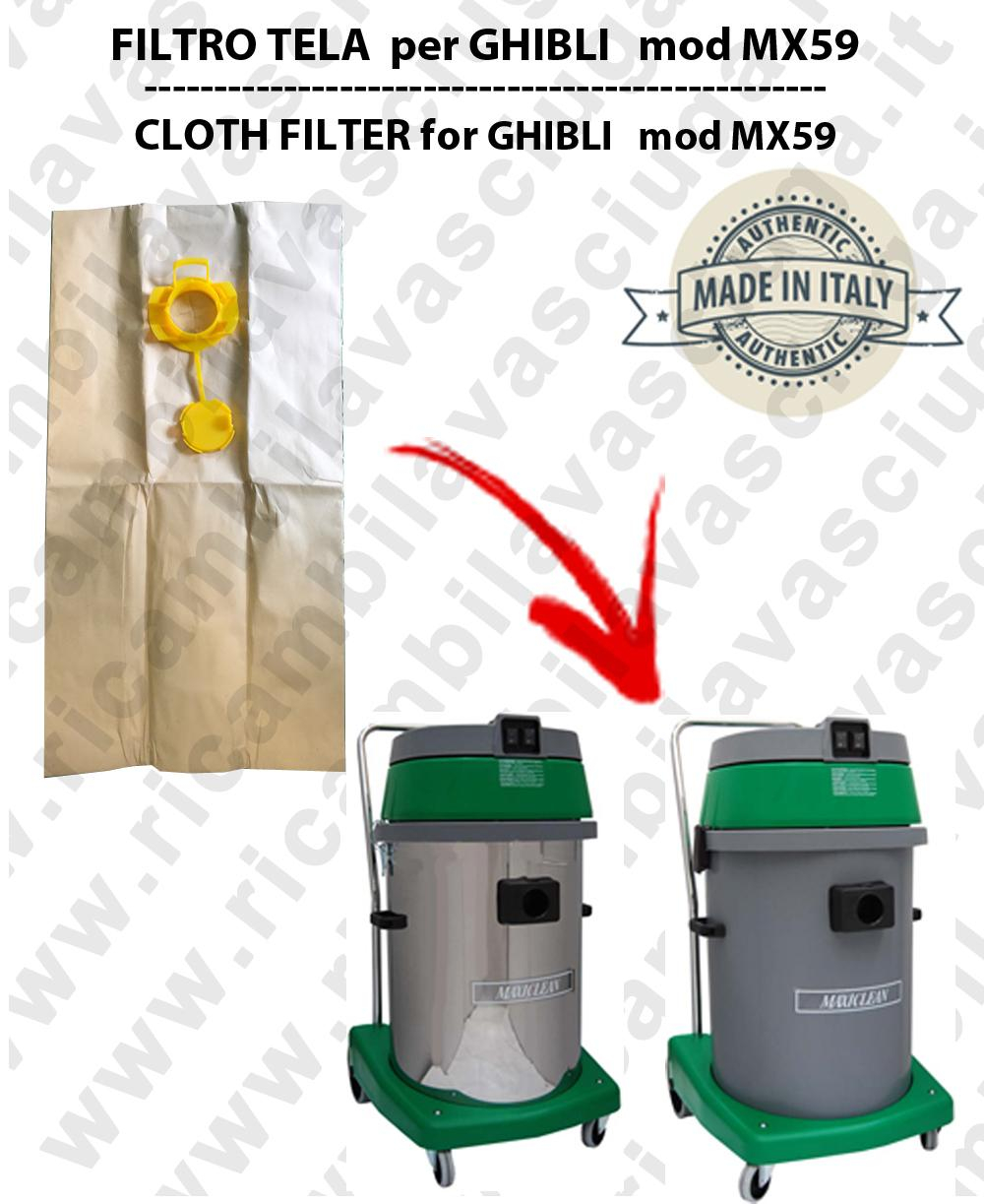 Sacco carta litres 19 with plug for MAXICLEAN mod MX 59 - conf. 10 pieces - vacuum cleaner SYNCLEAN