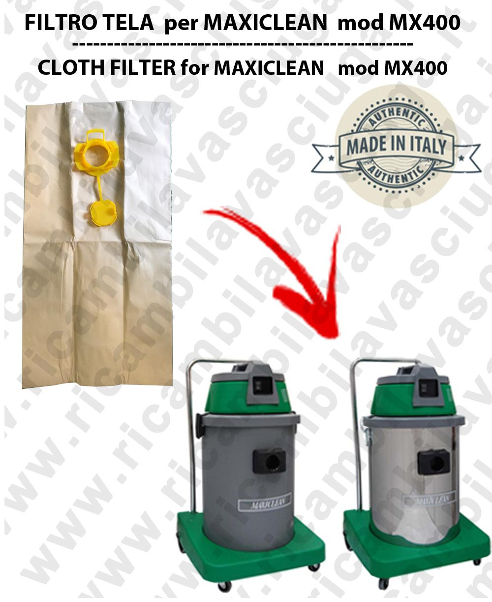 Sacco carta litres 19 with plug for MAXICLEAN mod MX 400 conf. 10 pieces - vacuum cleaner SYNCLEAN
