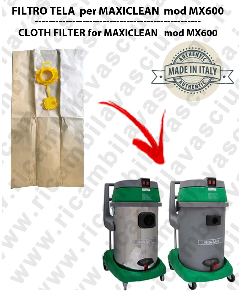 Sacco carta litres 19 with plug for MAXICLEAN mod MX 600 conf. 10 pieces - vacuum cleaner SYNCLEAN