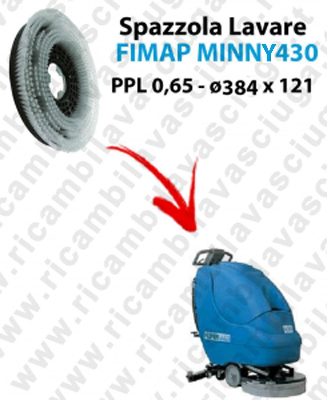 CEPILLO DE LAVADO  para fregadora FIMAP MINNY 430. modelo: PPL 0,65  ø 384 X 121