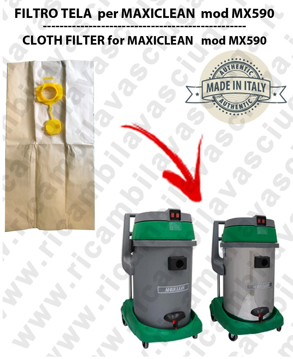 SACCO CARTA  litri 19 con tappo para MAXICLEAN mod MX 590 conf. 10 pezzi - aspiradora SYNCLEAN