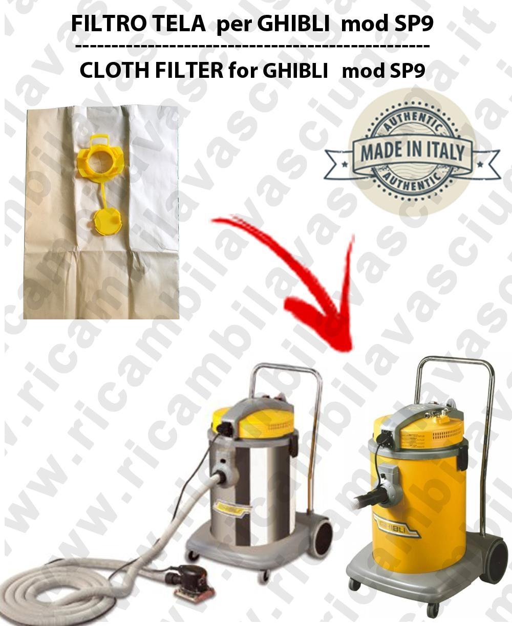 SACCO CARTA litri 19 con tappo para GHIBLI SP9/COMBI conf.10 pezzi - aspiradora GHIBLI