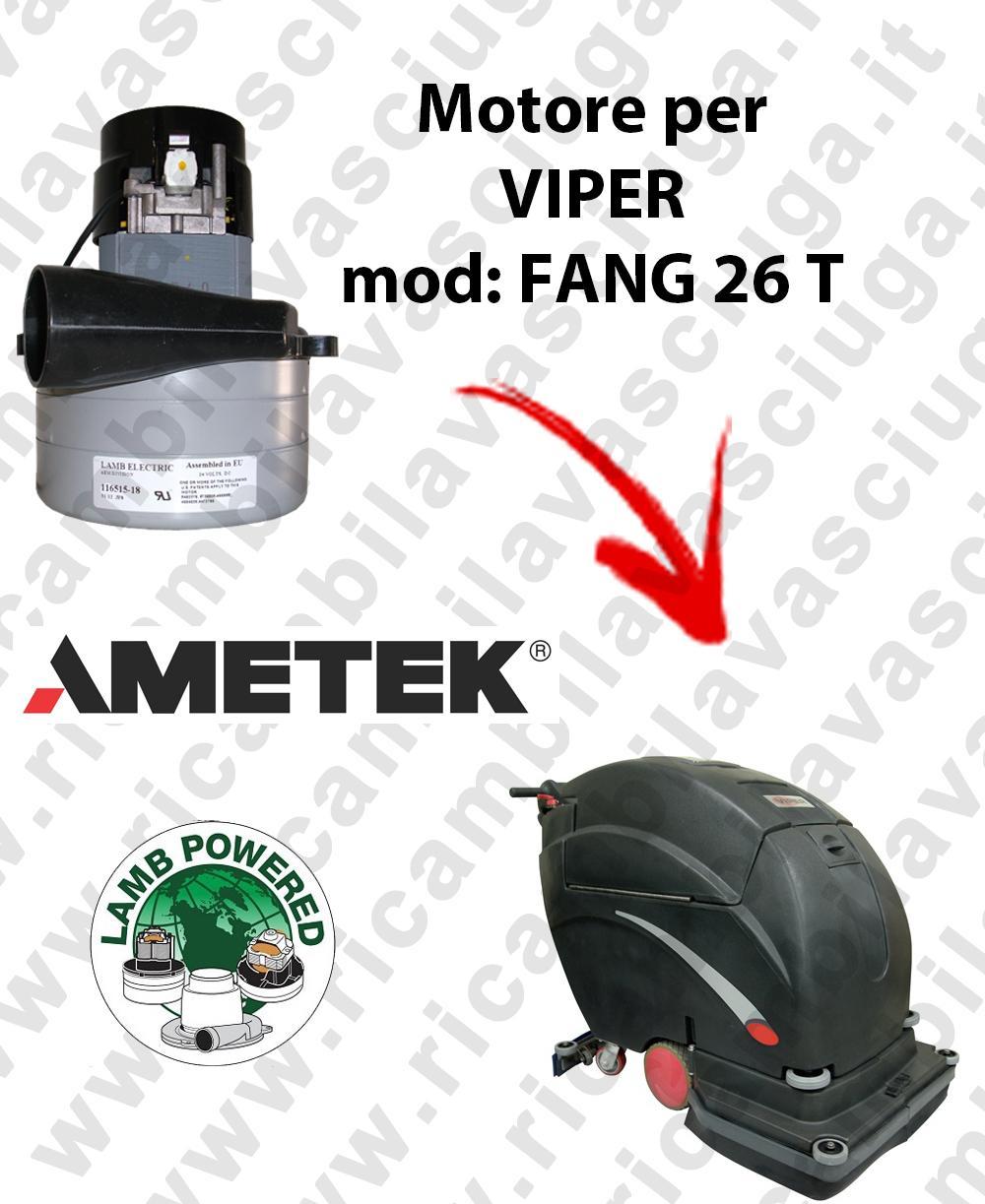 FANG 26 T Saugmotor LAMB AMETEK für scheuersaugmaschinen VIPER