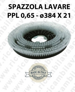 BROSSE A LAVER in PPL 0,65. DIMENSIONS diamétre 384 X 121 valida pour autolaveuses, monobrosse (17 pouce) et balaieuses