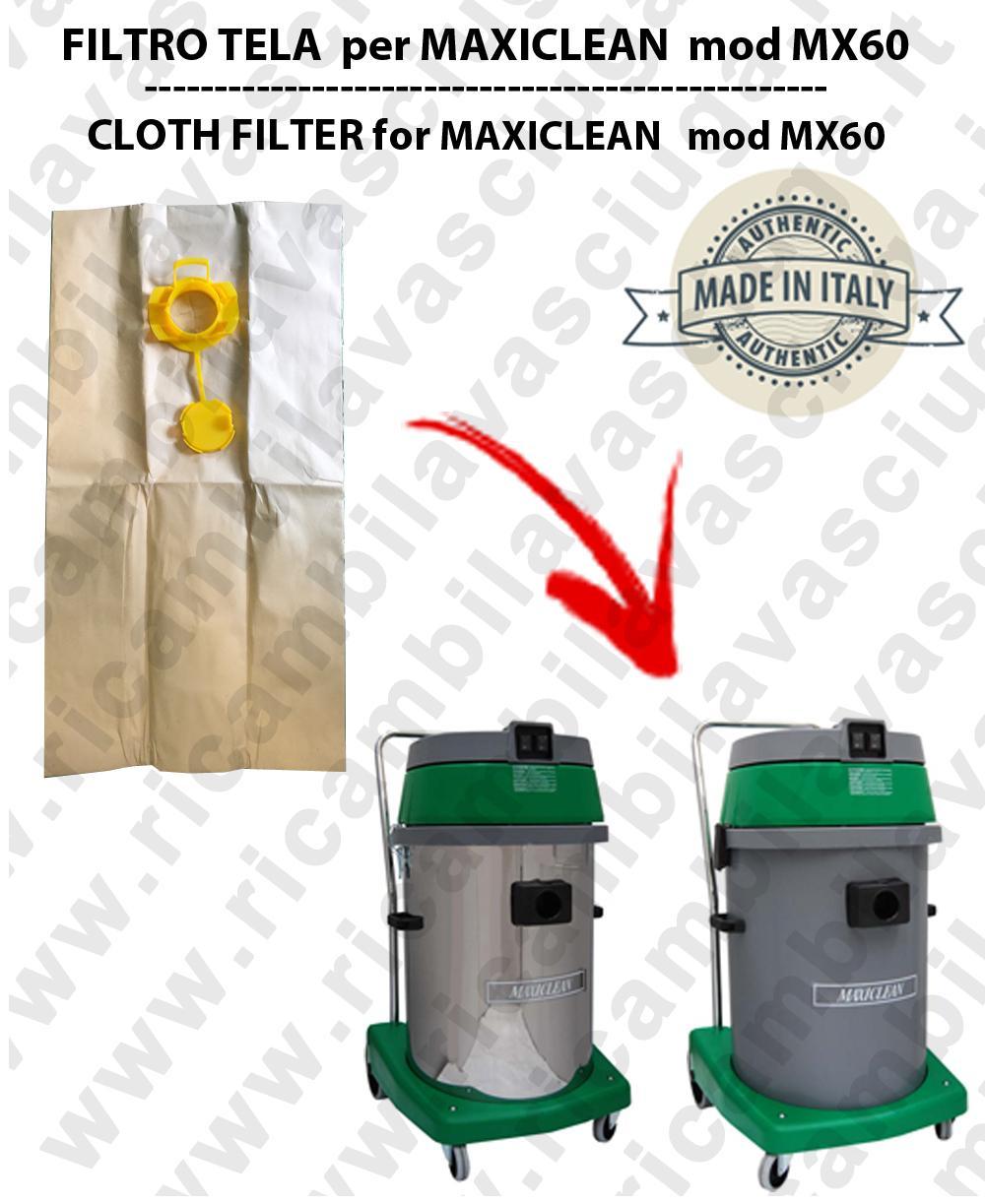 Sac en papier litres 19 avec bouchon pour MAXICLEAN mod MX 60 conf. 10 piéces - aspirateurs SYNCLEAN