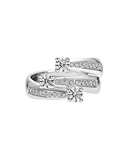 Recarlo - Anello Trilogy Oro Bianco 18 kt carati con Diamanti