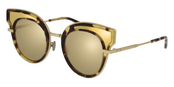 Bottega Veneta - Occhiale da Sole Donna, Havana Gold/Gold Shaded  BV0094S-003  C49