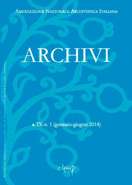 Archivi a.IX-n. 1 (gennaio-giugno 2014)