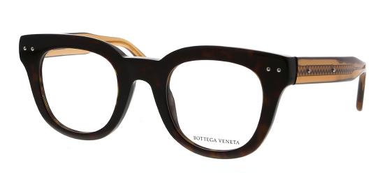 Bottega Veneta - Occhiale da Vista Unisex, Dark Havana  BV0084O-003  C46
