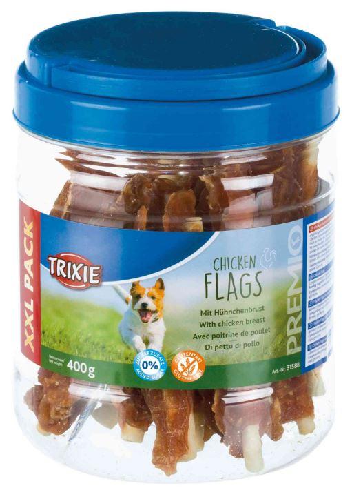 PREMIO Chicken Flags - Snack di bovino e pollo per cani