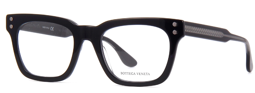 Bottega Veneta - Occhiale da Vista Uomo, Black/Grey Transparent  BV0240O-001  C51