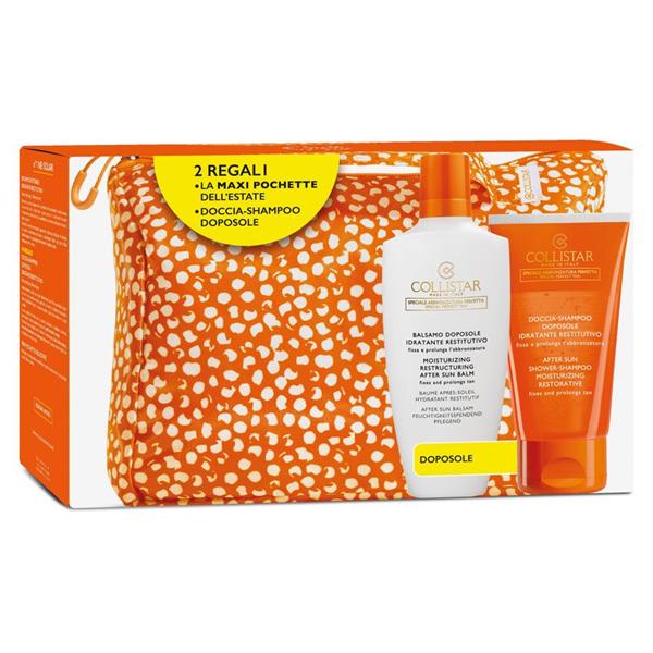 Kit Solare Collistar Balsamo Doposole + Doccia-Shampoo Doposole + Maxi Pochette